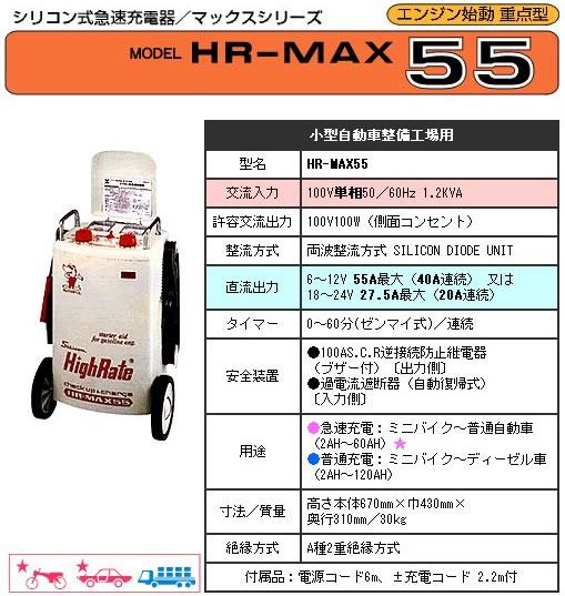デンゲン デンケンシリコン式急速充電器HR-MAX55