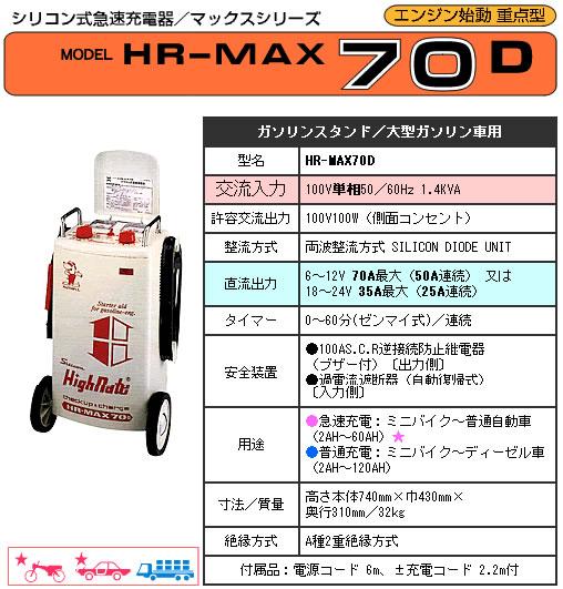 デンゲン シリコン式急速充電器 HR-MAX70D