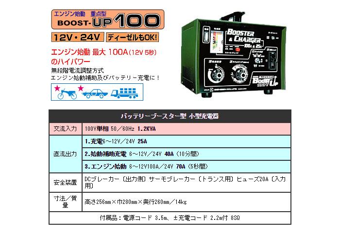 デンゲン バッテリーブースター型小型充電器 BOOST-UP100