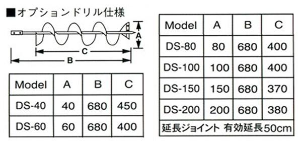 Tanaka(日立工機販売/旧日工タナカエンジニアリング) オーガードリルΦ60 DS-60
