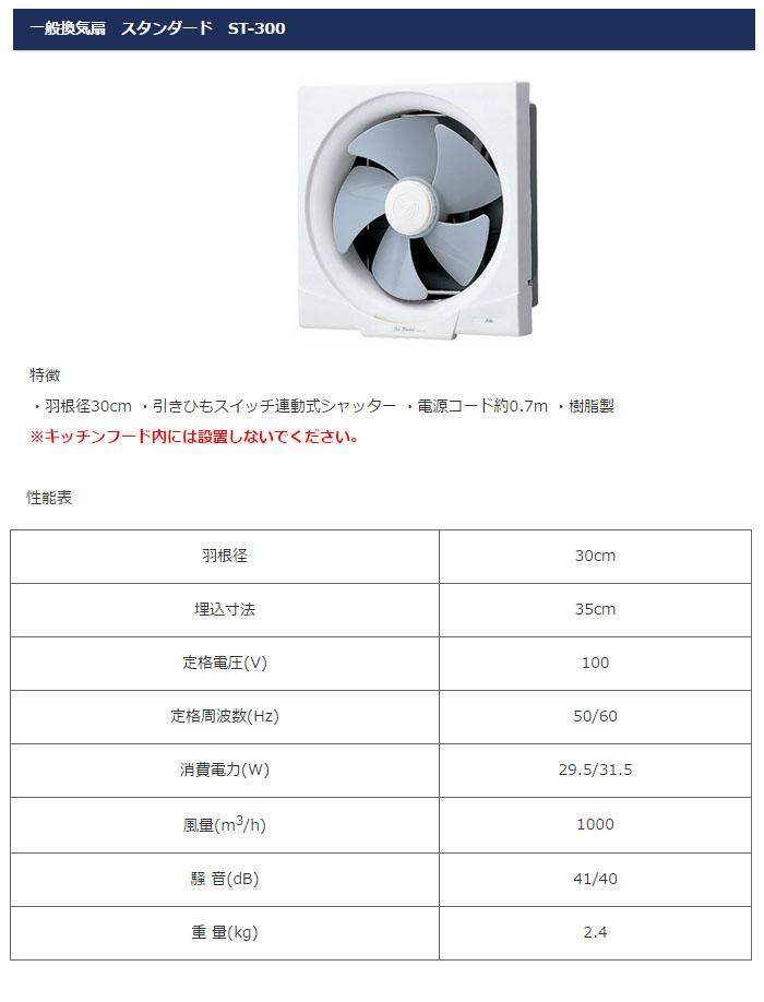日本電興 一般用換気扇 ST-300 羽根径30cm