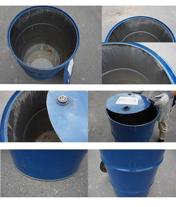 リユース 天板カット済みドラム缶 200L+燻炭器セット