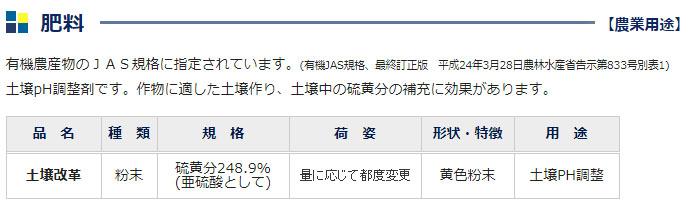 土壌PH調整 土壌改革 微粉硫黄99.7% 100g 【量り売り】