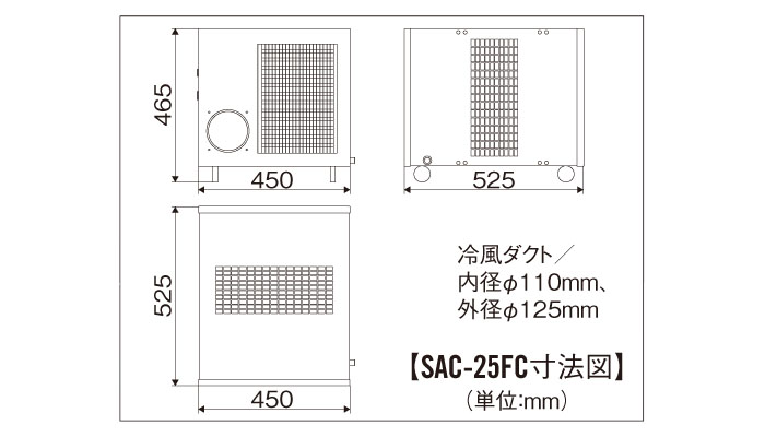 ナカトミ フロア型スポットクーラー 単相100V SAC-25FC 【個人宅配送不可】