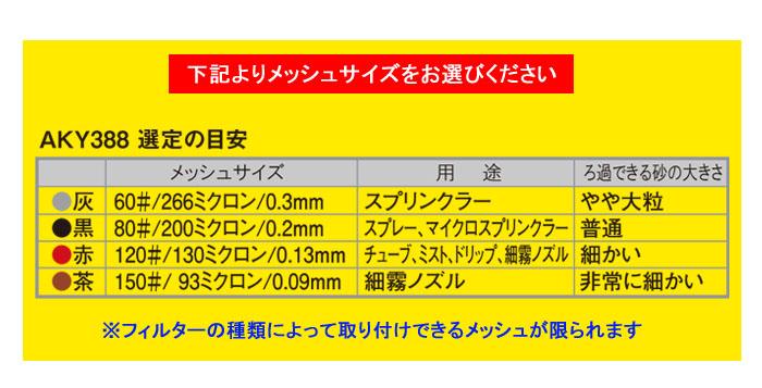 サンホープ スクリーンフィルター用エレメント(メッシュ) AKY385M ステンレスメッシュ かん水用 ろ過器用