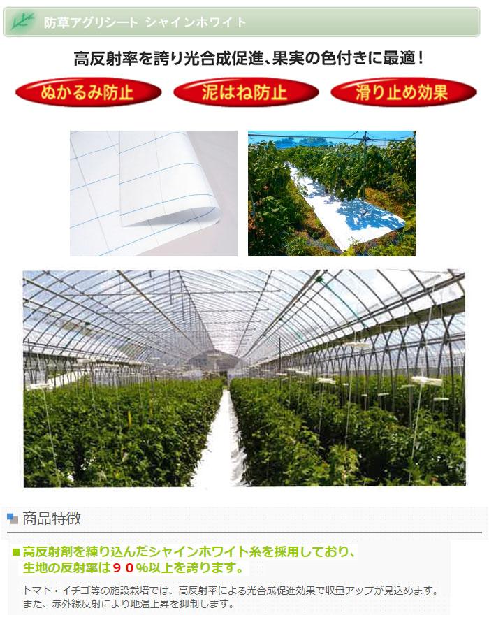 日本ワイドクロス 防草シート アグリシートシャインホワイト 4m×100m SW1515 防草・多目的用【個人宅配送不可】