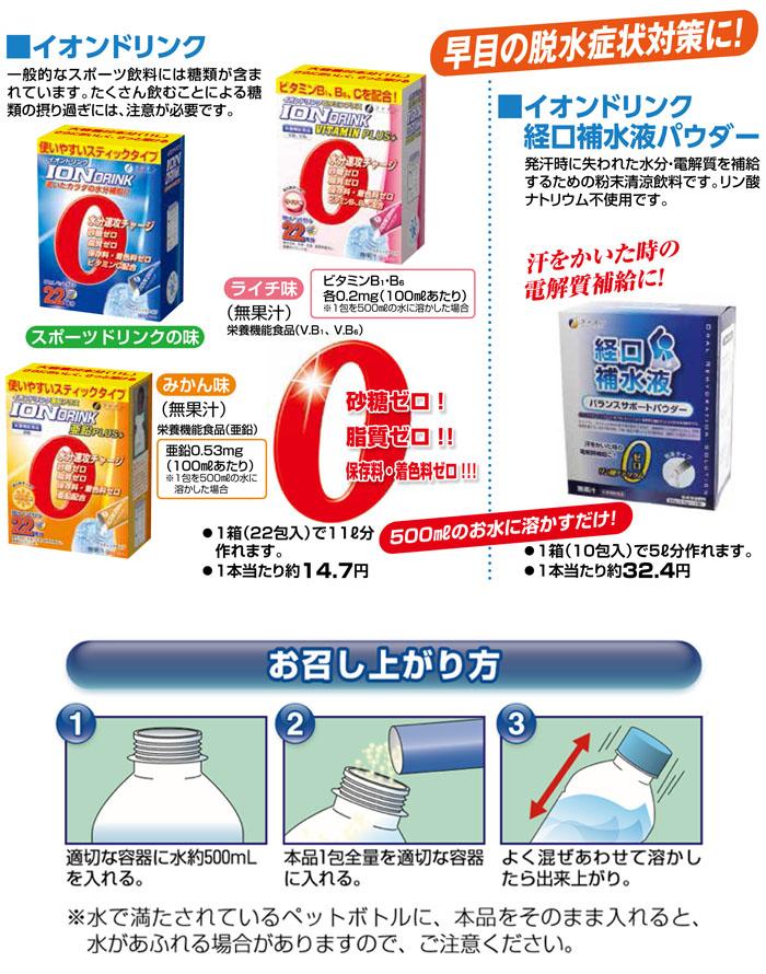 イオンドリンク 亜鉛プラス みかん味 粉末タイプ 約11L分 糖類・脂質ゼロ