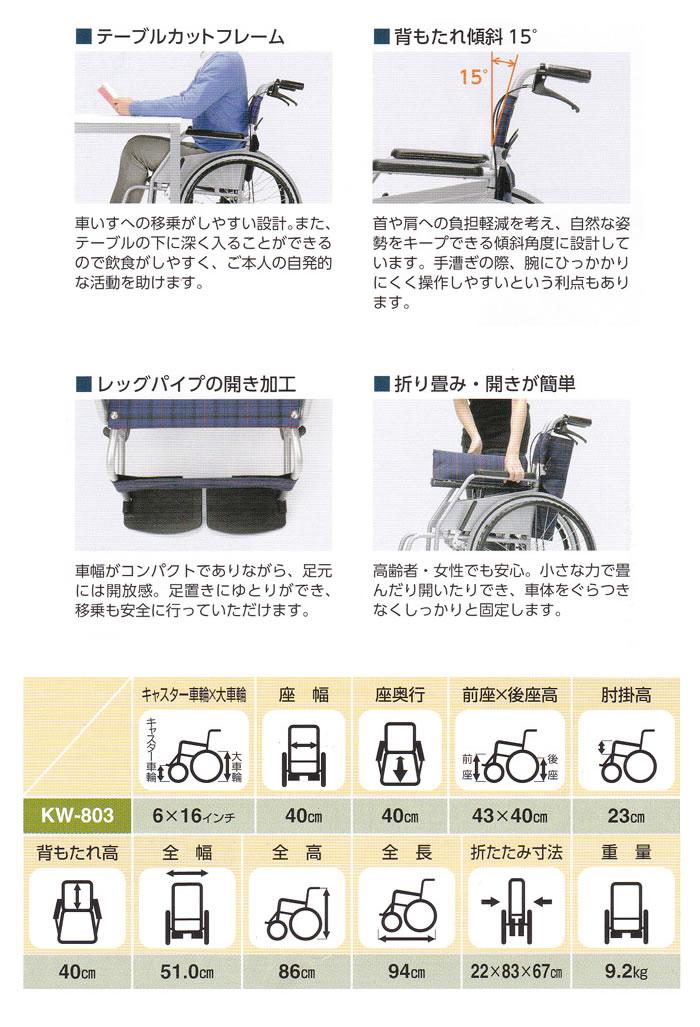 【片山車椅子製作所】KARL2 カール 介助式 KW-803
