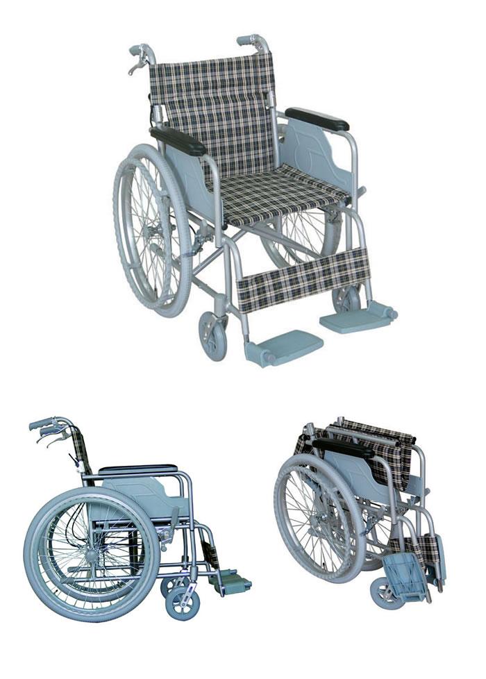 幸和製作所 【TacaoF】ハンドブレーキ付き 自走介助兼用車椅子 B-31