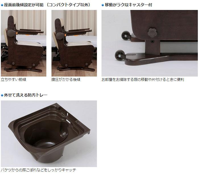 パナソニックエイジフリー 家具調トイレ 座楽 ベーシック プラスチック便座 PN-L23306