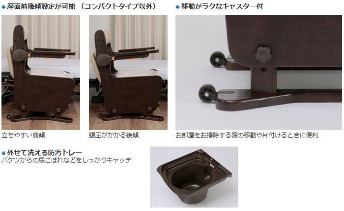 パナソニックエイジフリー 家具調トイレ 座楽 ひじ掛けはねあげ プラスチック便座 PN-L23406