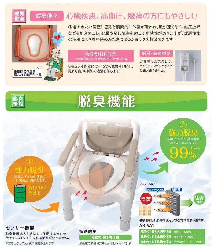 アロン化成 安寿 家具調トイレ セレクトR コンパクト 暖房・快適脱臭 533-885