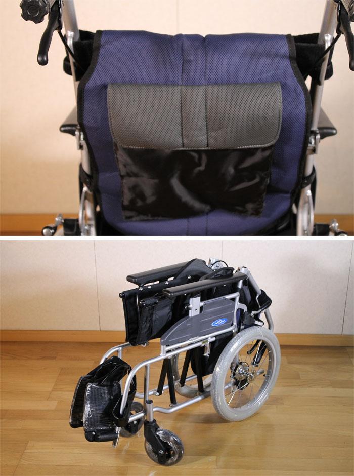 日進医療器 【中古】 介助用車いす 座王 NAH-521A 40cm幅