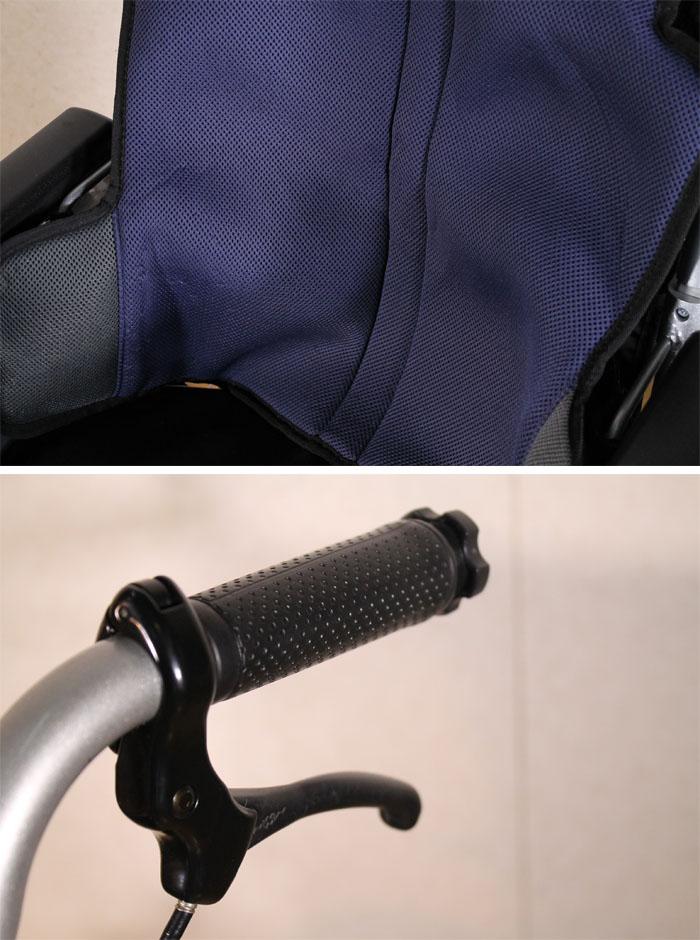 日進医療器 【中古】 自走用車いす 座王 NA-501A 介助ブレーキ付 40cm幅