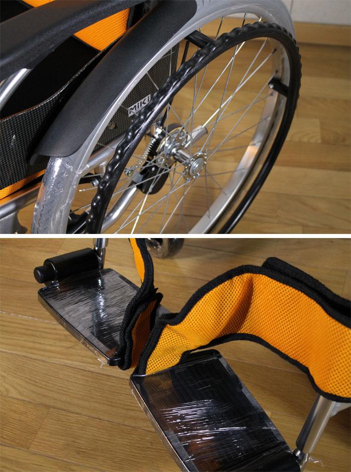 ミキ 【中古】 自走用車いす RX-1 Lo 介助ブレーキ付 40cm幅 オレンジ