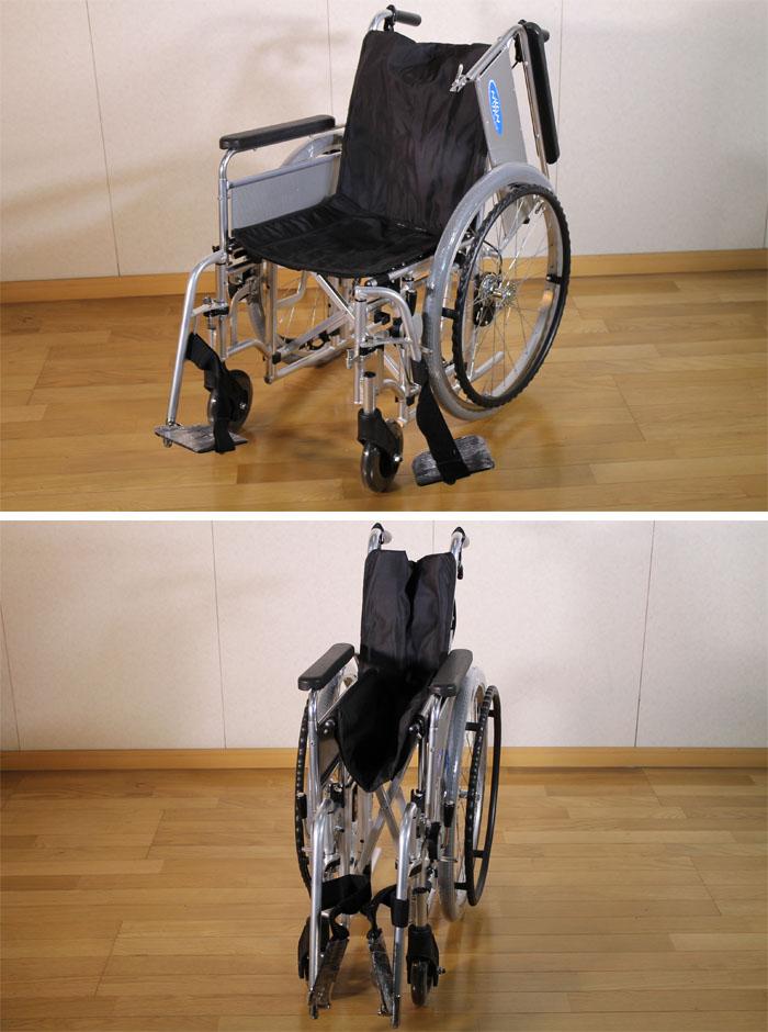 日進医療器 【中古】自走型 モジュラー式車いす EX-M3 スイングアウト・はねあげ式