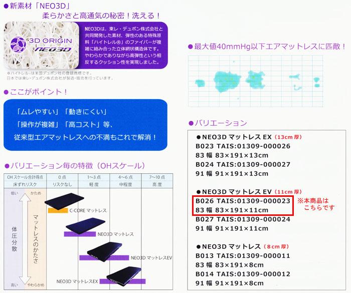 シーエンジ NEO3D 床ずれ予防マットレスEV 83cm幅 B026