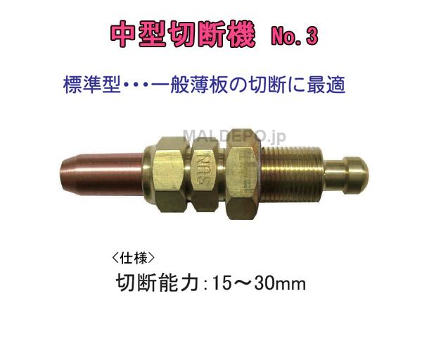 三共コーポレーション 中型切断機火口 NO.3