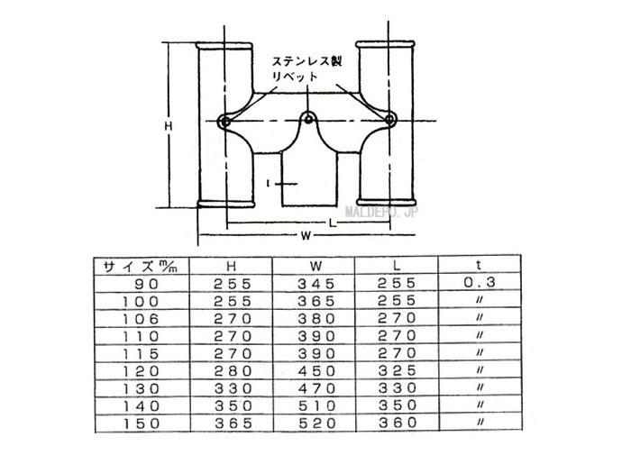 長府製作所 ステンレス排気筒 150φ Hトップ