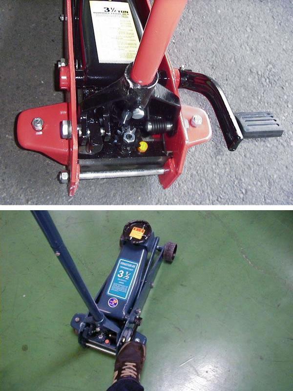 油圧式フロアジャッキ 3.5t セミオート(クイックペダル付) 赤【都度見積り】