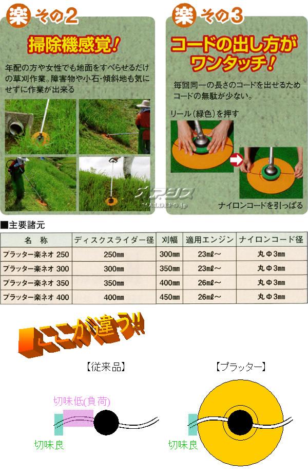 小林産業 ナイロンカッター プラッター楽ネオ φ250mm