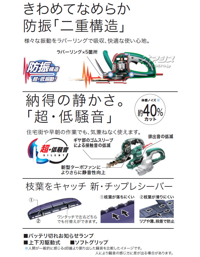 マキタ(makita) 電動生垣バリカン MUH4602 刈込幅460mm 防振 特殊コート刃