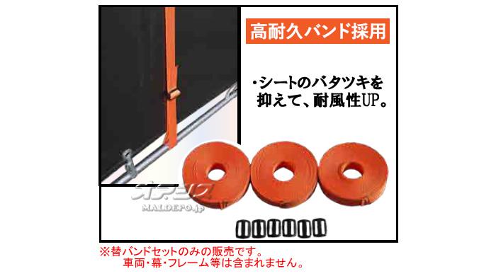 南栄工業 サイクルハウス OUTDOOR ORANGE SH6-MSV用 押えバンド 3連オレンジセット【法人値引有】