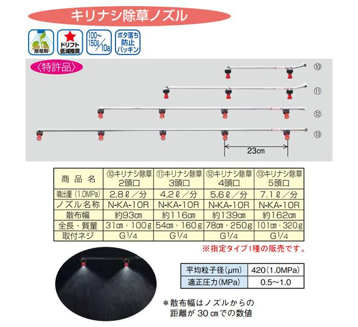 ヤマホ工業(YAMAHO) キリナシ除草2頭口 G1/4