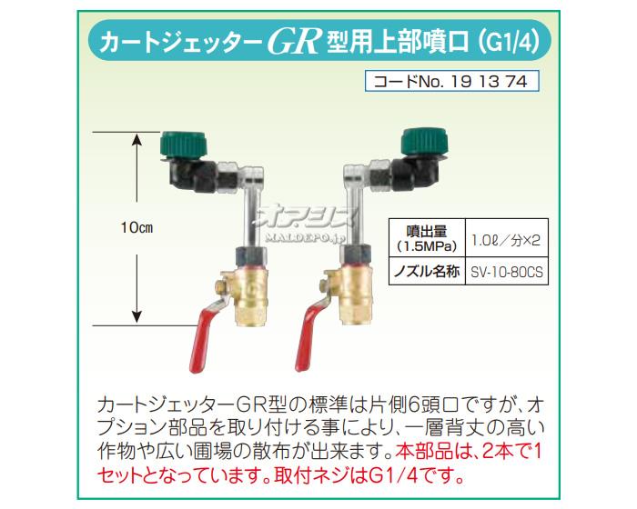 ヤマホ工業(YAMAHO) カートジェッターGR型用上部噴口 G1/4【受注生産品】