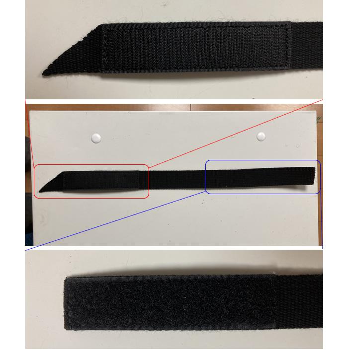 ウッドプラスチックテクノロジー Wターフ用 面ファスナー式 固定バンド 10本セット