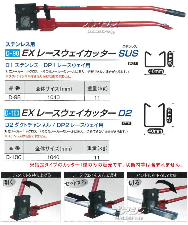モクバ(Mokuba/小山刃物製作所) 手動式 EXレースウェイカッター D2 D-100 D2 ダクトチャンネル用 DP2 レースウェイ用