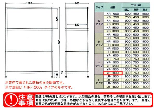 東製作所(azuma) パンラック YR-1800 【個人宅都度見積り】