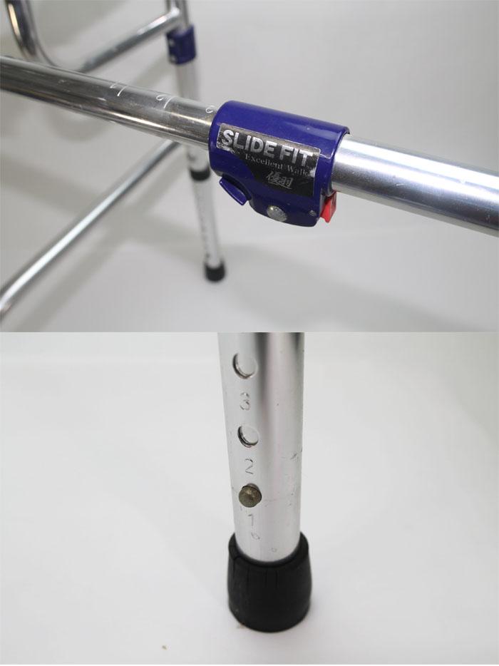 ユーバ産業 【中古】スライドフィット 固定式幅伸縮歩行器